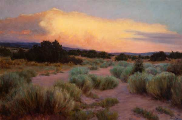 """""""Twilight in the Chamisa"""" by Peter Hagen Oil  24 x 36"""