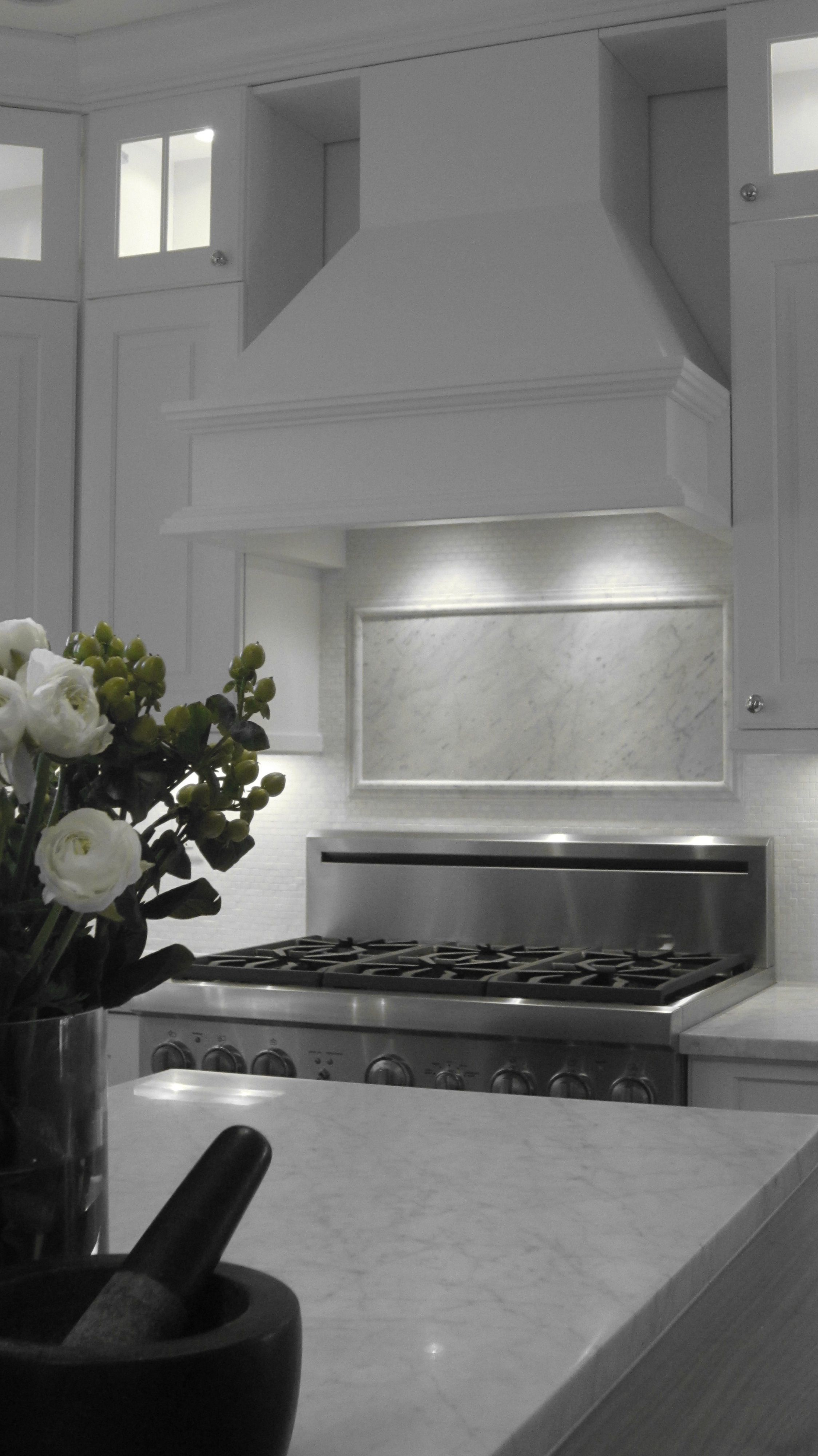 - Beacon St. Kitchen - Carrara Marble Countertops And Accent