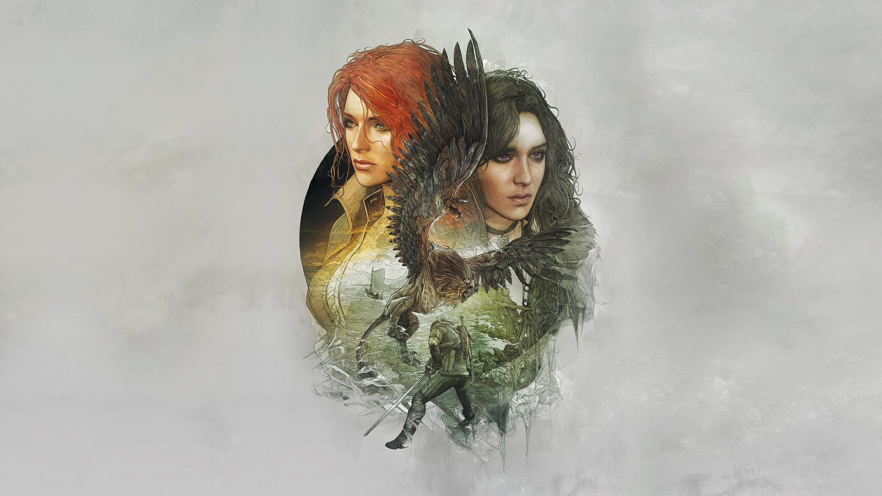 Witcher 3 Yennefer And Triss Wallpaper The Witcher The Witcher 3 Wild Hunt Geralt Of Rivia Triss Merigold Yennefer Of Veng The Witcher The Witcher 3 Wild Hunt