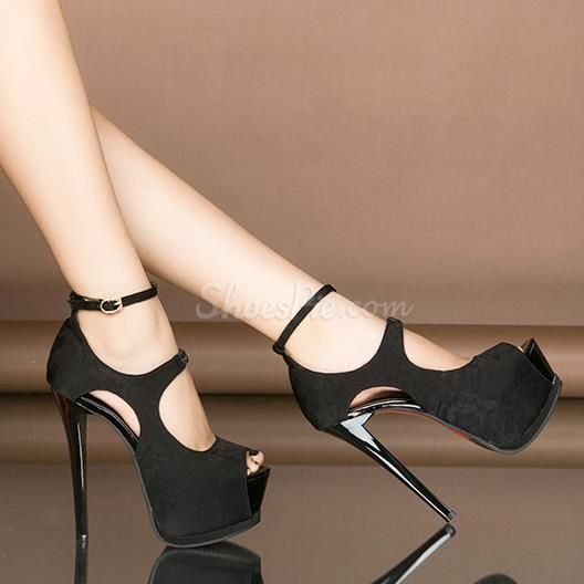 Shoespie Cutouts Ankle Strap Buckle Platform Heels is part of Heels - Buy Shoespie Cutouts Ankle Strap Buckle Platform Heels From Shoespie com You will find many fashionable products from Peeptoe Heels collections