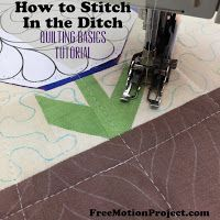 Quilting Basics 6: Stitching in the Ditch | Free Motion Quilting Project with Leah Day | Bloglovin'