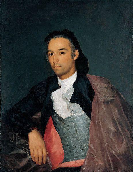 FRANCISCO DE GOYA RETRATO DEL MATADOR DE TOROS PEDRO ROMERO 1795-98