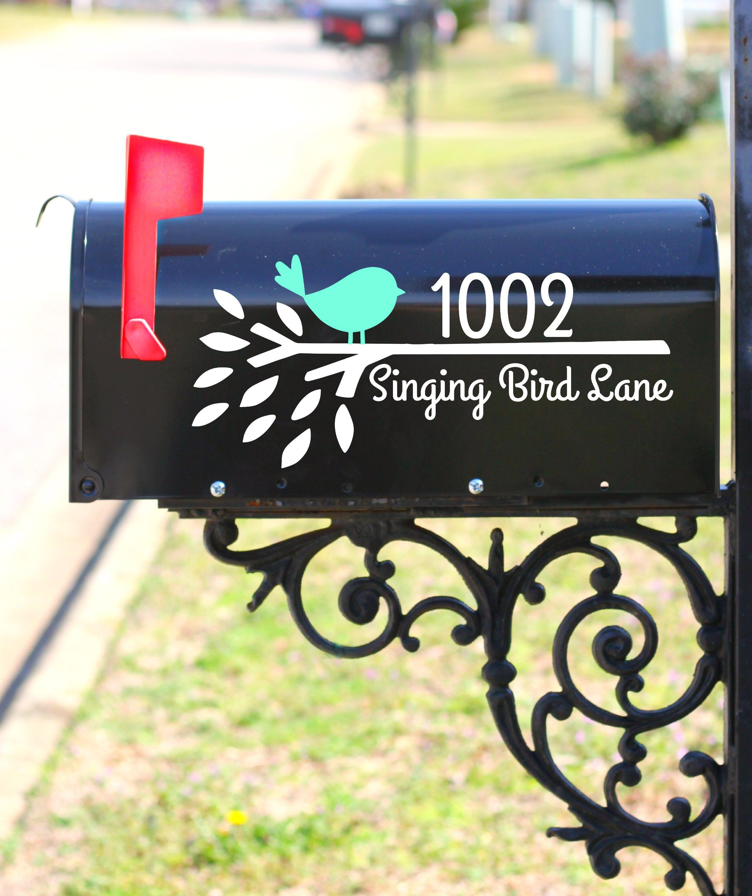 Mailbox decal bird mailbox mailbox bird decals mailbox design stickers family