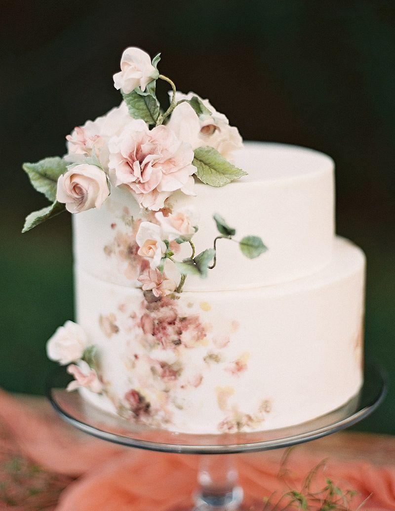 Bolo de noivado flores realistas #weddingcakes | Bolos de