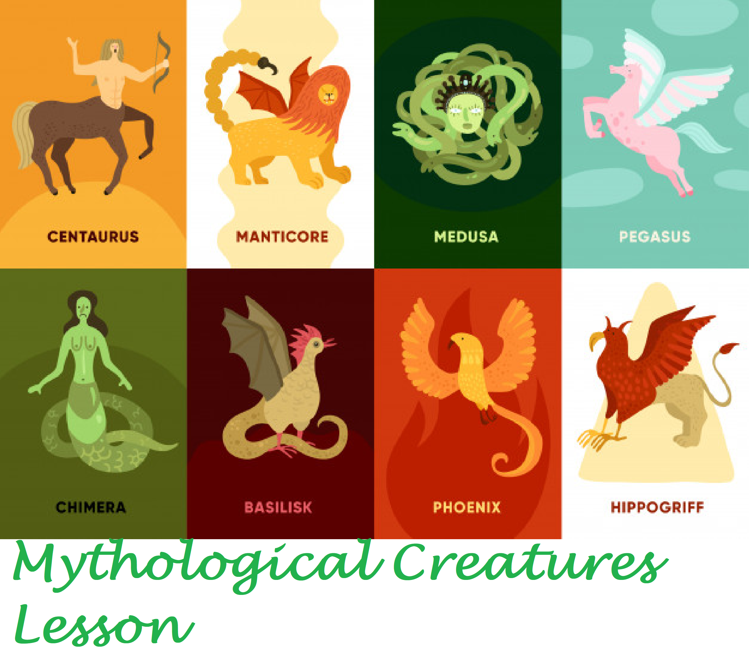 Mythologicical Creatures Lesson In
