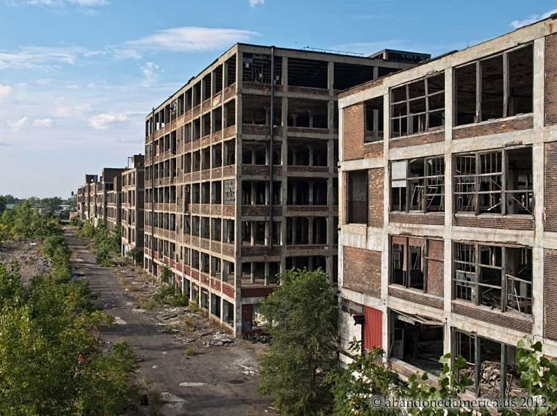 The Remains Of Detroit S Packard Motor Car Company Abandoned
