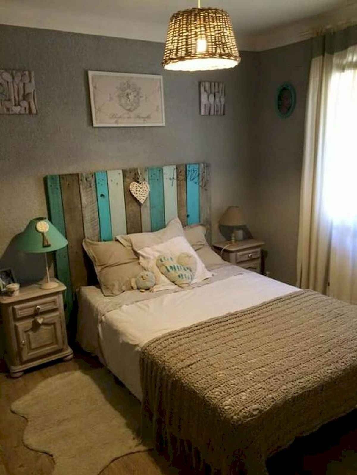 Rustic Romantic Bedroom Ideas: 60 Most Creative DIY Projects Pallet Headboards Bedroom