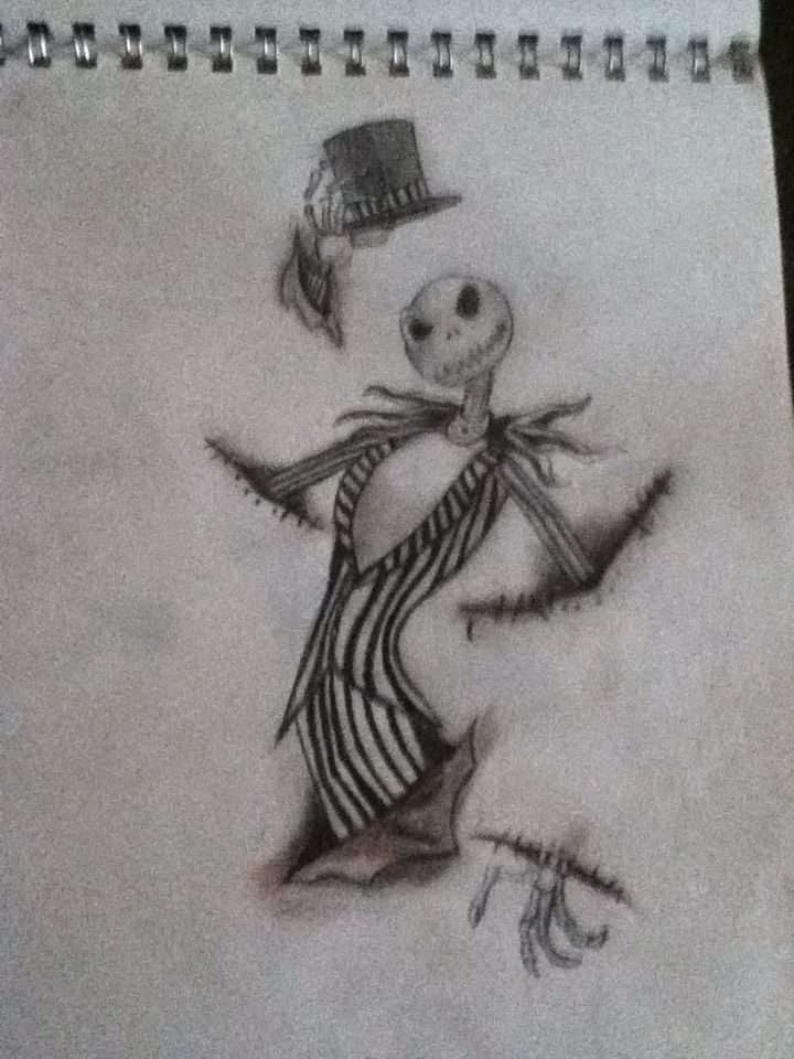 Jack Skellington coming out of rips