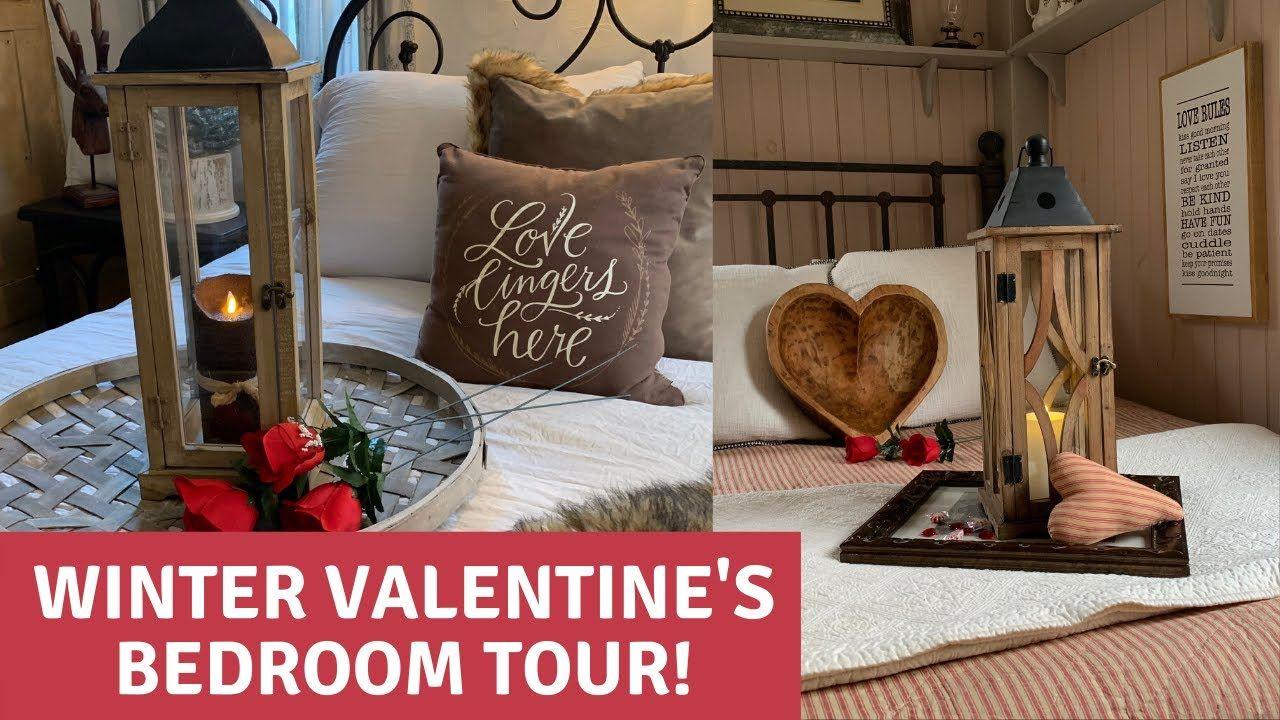 Winter Valentine's Home Tour in 2020 Valentines bedroom