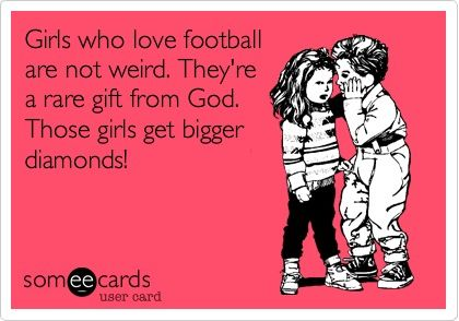 Girls who love football.