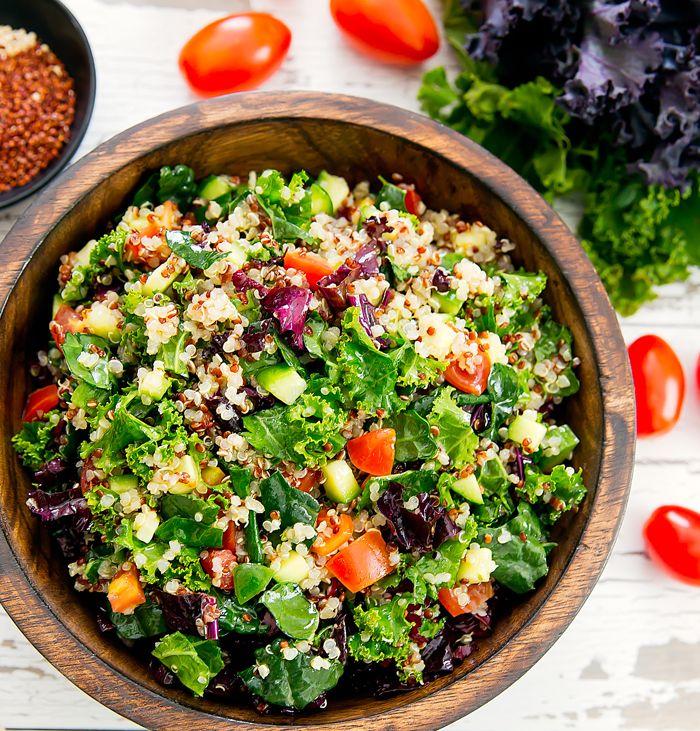Kale Quinoa Salad Recipe Superfood Salad Superfood Recipes Healthy Recipes
