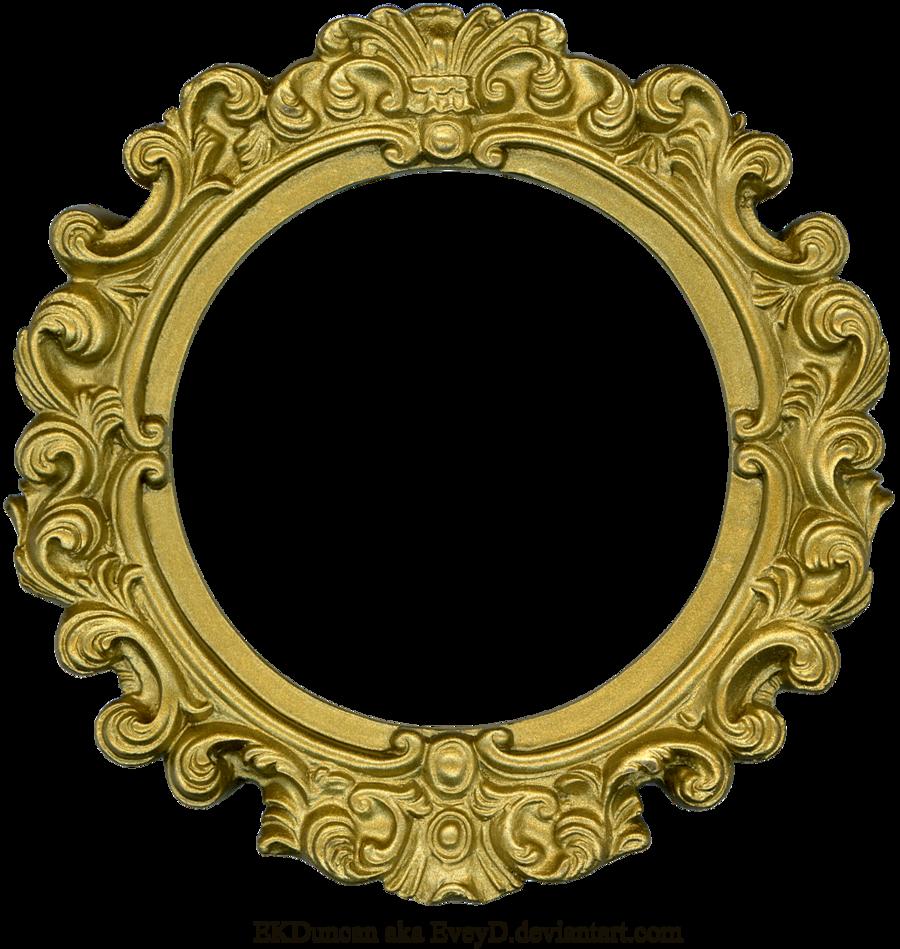 Vintage Gold Frame Round By Eveyd D4fmeyt Png 900 949 Antique Picture Frames Gold Frame Vintage Frames