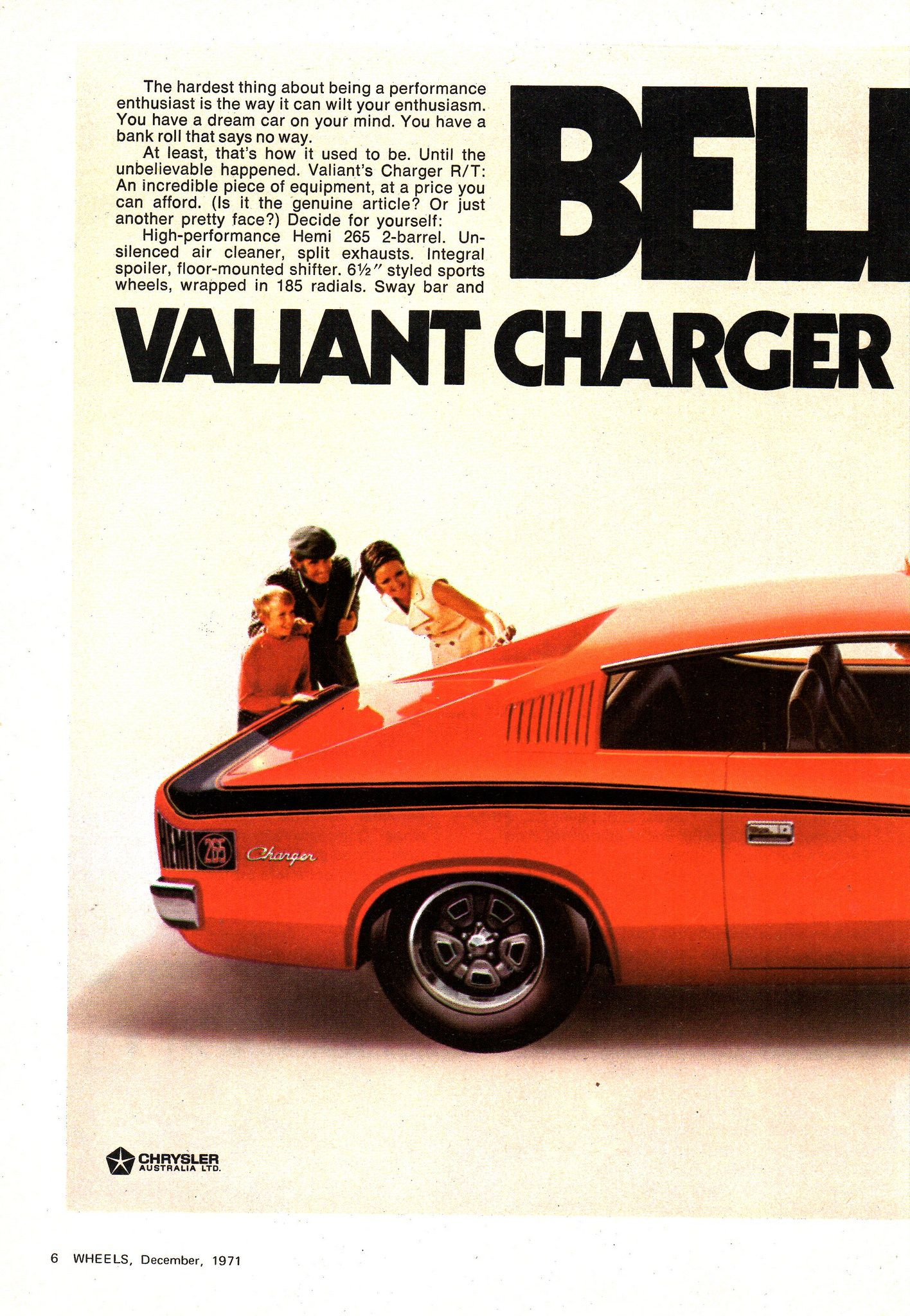 1971 VH Chrysler Valiant Charger E38 RT Road Track Page 1 Aussie ...