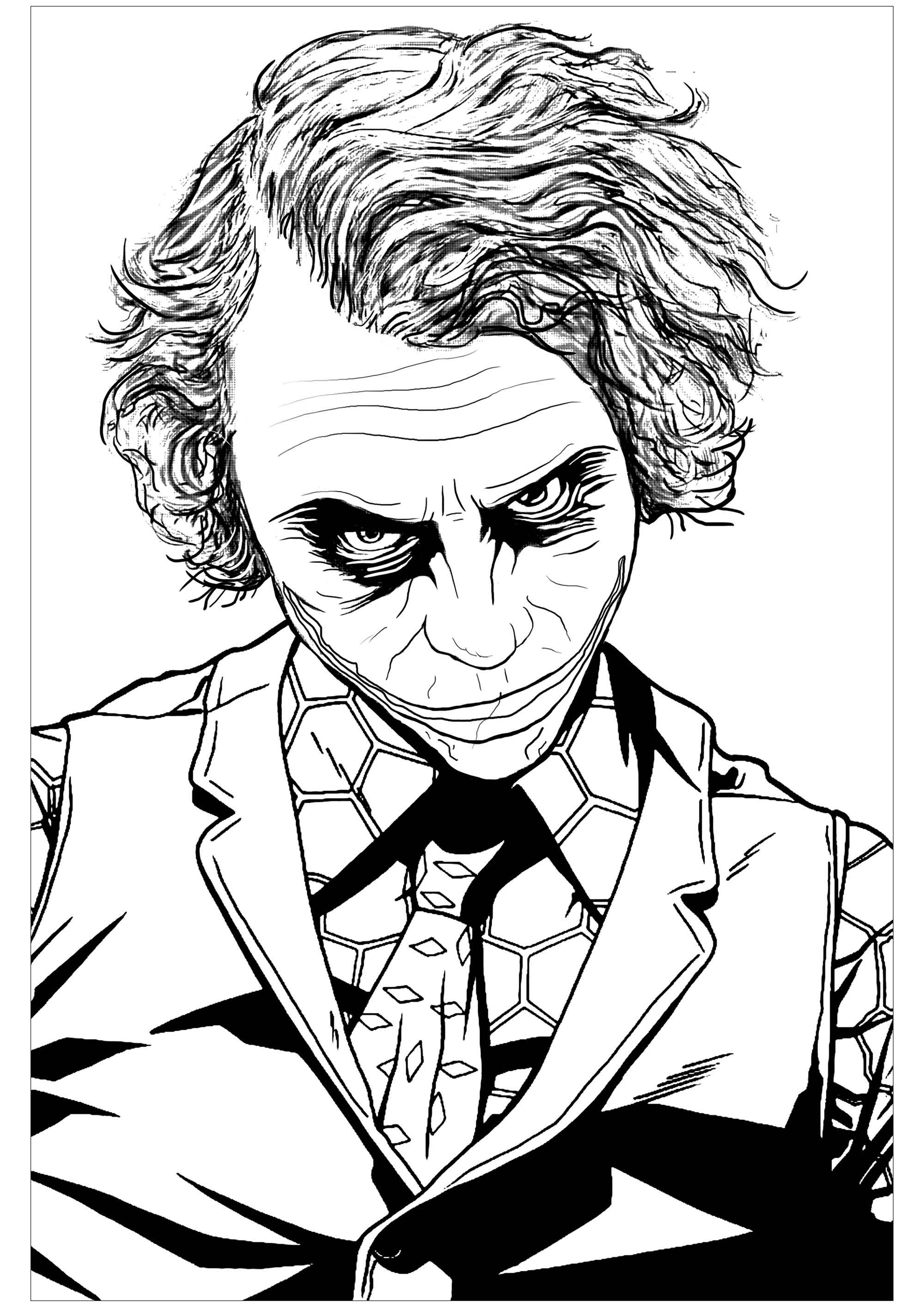 the joker heath ledger coloring pages for adults