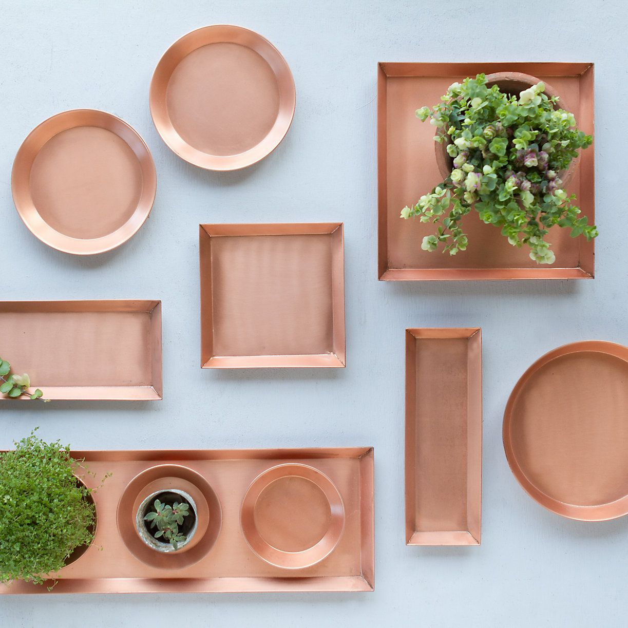 Terrain Home Decor: Polished Copper Tray, Square In House+Home HOME DÉCOR Room