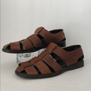 To Boot New York Mens Brown Leather Sandals Sz 44