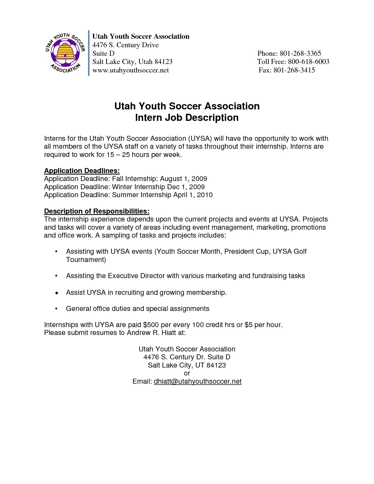 Youth Program Coordinator Cover Letter Assistant Sample Resume