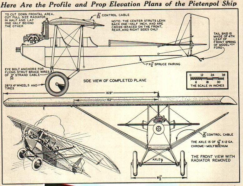 pietenpol profile and prop elevation plans pietenpol airplane rh pinterest ca airplane schematic minecraft aircraft schematics manual