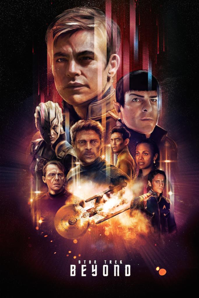 FREE P+P Star Trek BEYOND Poster Simon Pegg Star SCOTTY 2016 CHOOSE YOUR SIZE