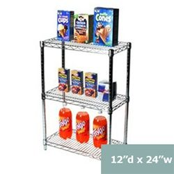 Three Tier Wire Shelving Racks 12 Inches Deep 12 D Shelving Racks Wire Shelving Upright Freezer