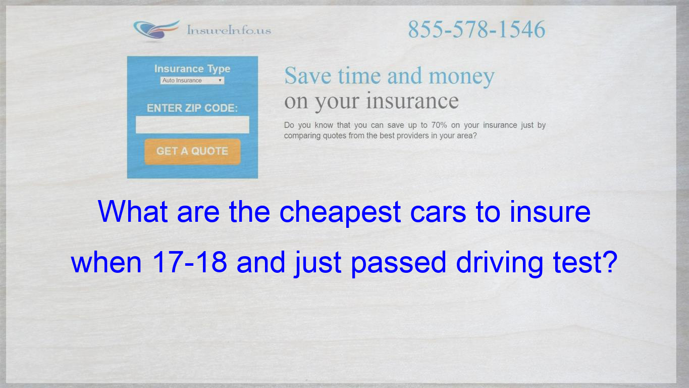 Pin On What Are The Cheapest Cars To Insure When 17 18 And Just