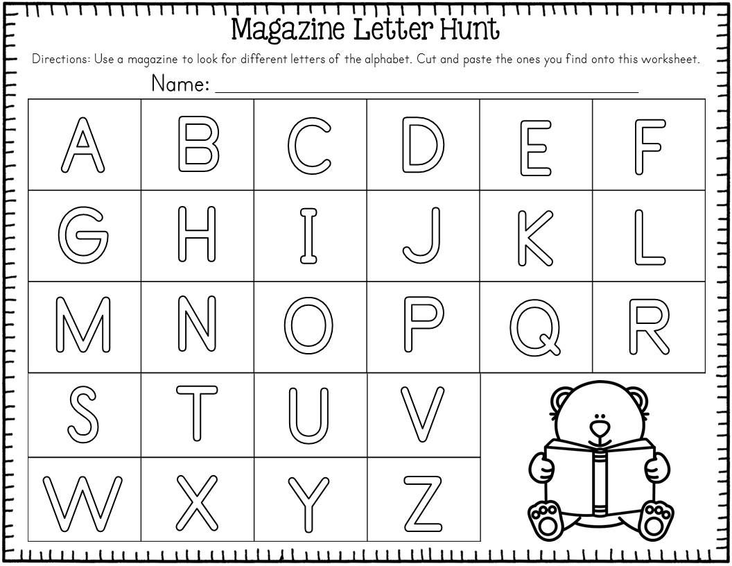 Freebie Magazine Letter Hunt Freebie Students Will Love