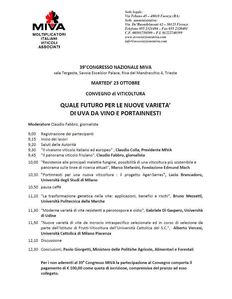 Quale futuro per le nuove varietà di uva da vino e portainnesti 23-10-2012