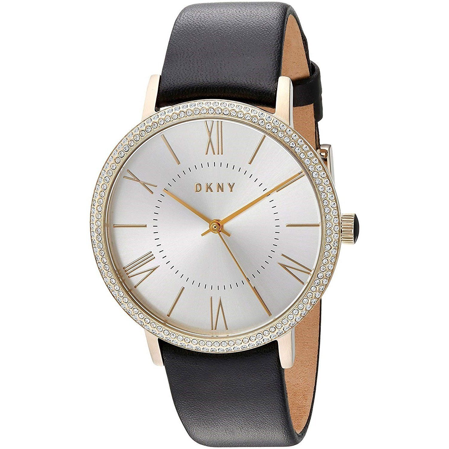 e9ff260bf3f DKNY Women s NY2544 Willoughby Crystal Leather Watch