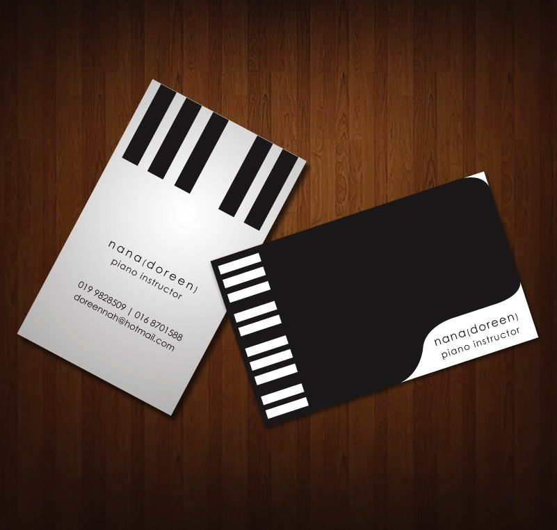 Classy piano keyboard business cards | Piano | Pinterest | Business ...