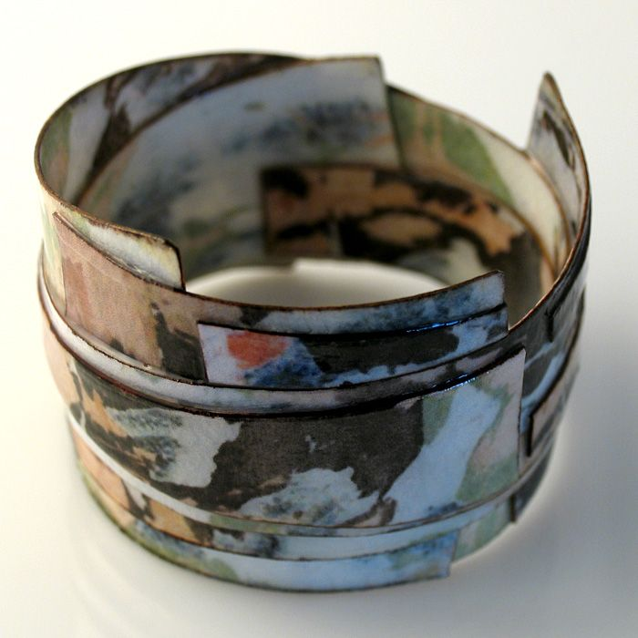Texture Time Inspired Mixed Media Cuff