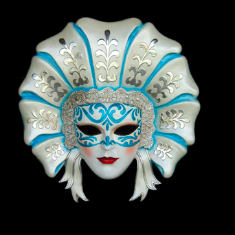 BIANCANEVE VENICE MASK  Material	Resin Size	2.75 Length (cm)	23.00 Width (cm)	83.00 Height (cm)	86.00 Length (inch)	9.06 Width (inch)	32.68 Height (inch)	33.86 CBM	0.16 Weight (kg)	9.00