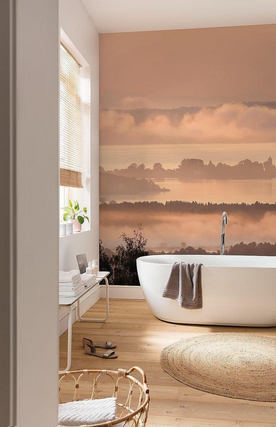 Komar Vlies Fototapete Chiemsee Badezimmer Bad Einrichten Einrichtungsideen Interior Tapeten Badreiniger Fototapete