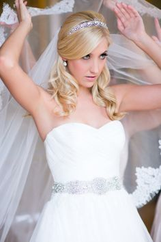 Pin By Jessica Ambrose On Hair Bridal Hair Half Up With Veil