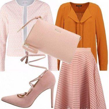 Outfit Perchè no, rosa e tan!