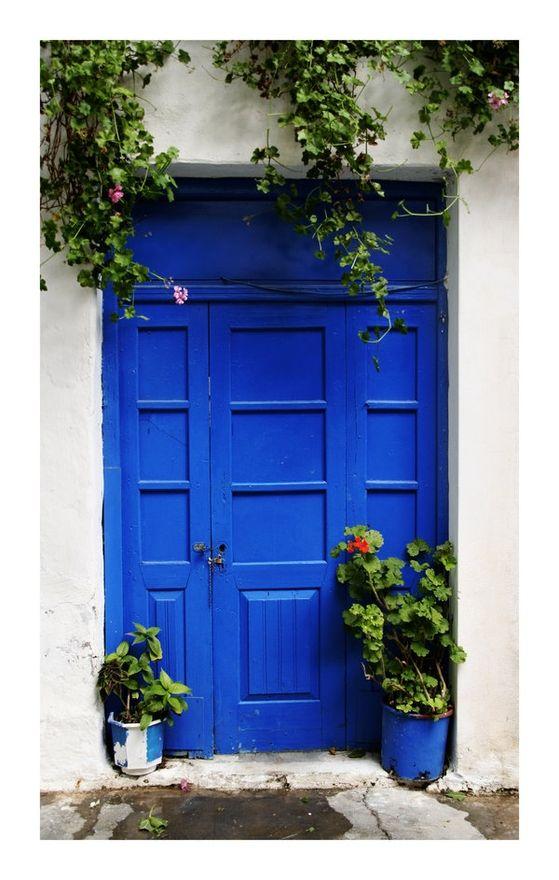 royal blue door