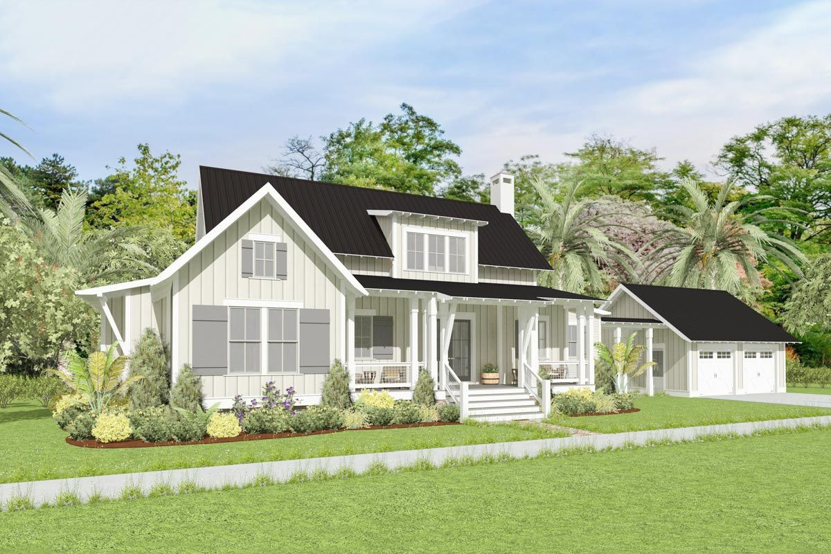 Plan 130039lls Charming Country Cottage With Screened Porch Cottage Plan Cottage Country Cottage