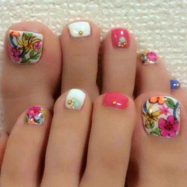 Pin de johanna castrillo en uñas | Diseños de uñas pies ...