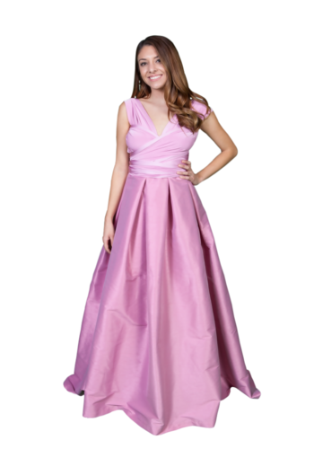266222e3046 Hi-Low Convertible Dress- Dusty Rose