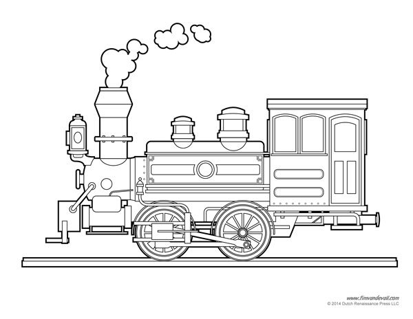 Locomotive coloring page transportation pinterest for Printable steam train coloring pages