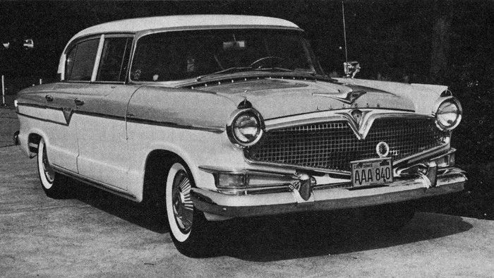 """1956 AMC Hudson Hornet Special, disparagingly called a """"Hash"""" because of it's Nash body."""