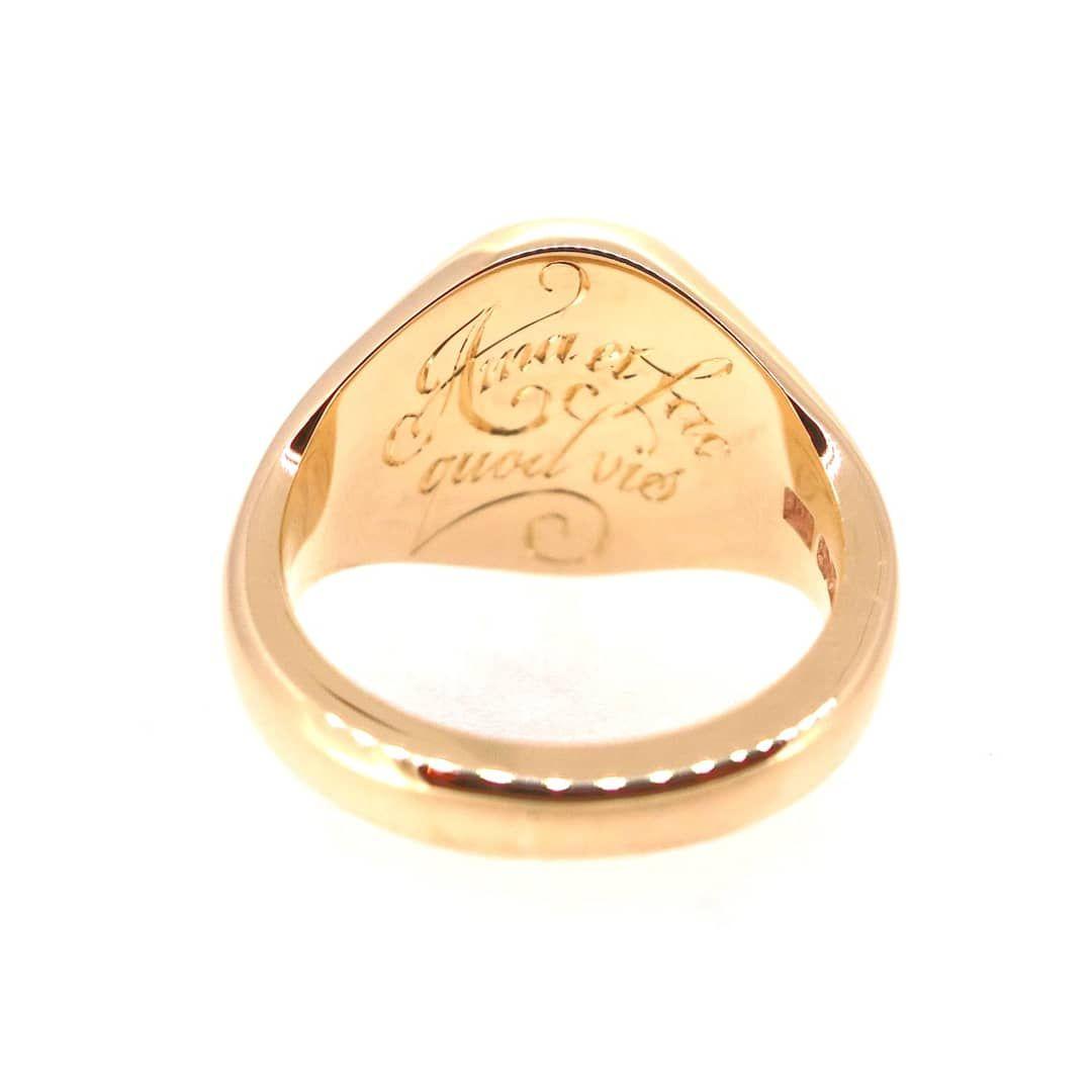 Inside Ring Engraving Signet Ring Custom Signet Ring Signet