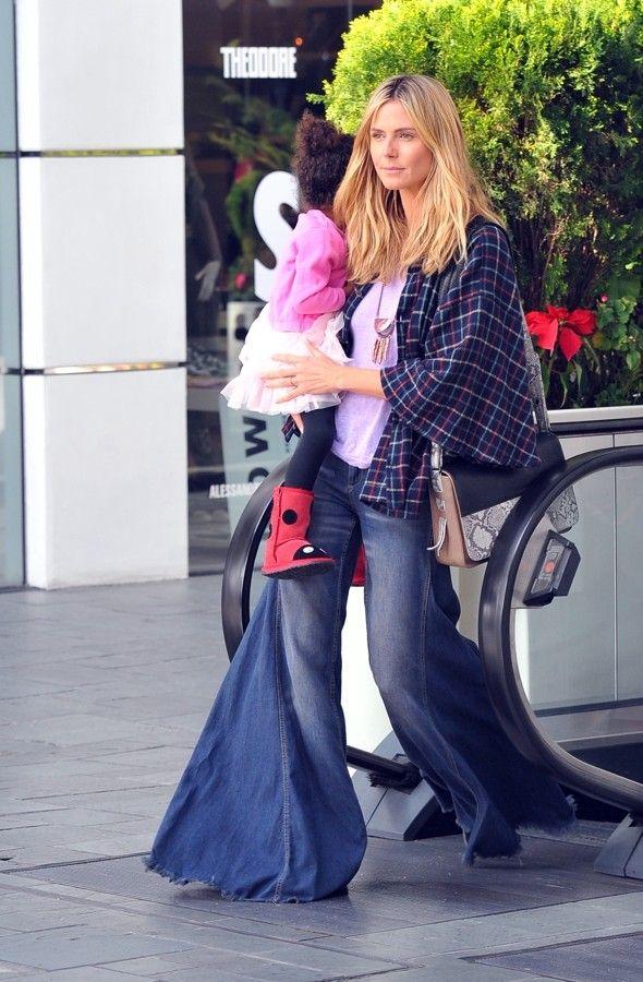 Hot or not: Heidi Klum's HUGE flares | Inspiring Ideas | Pinterest ...