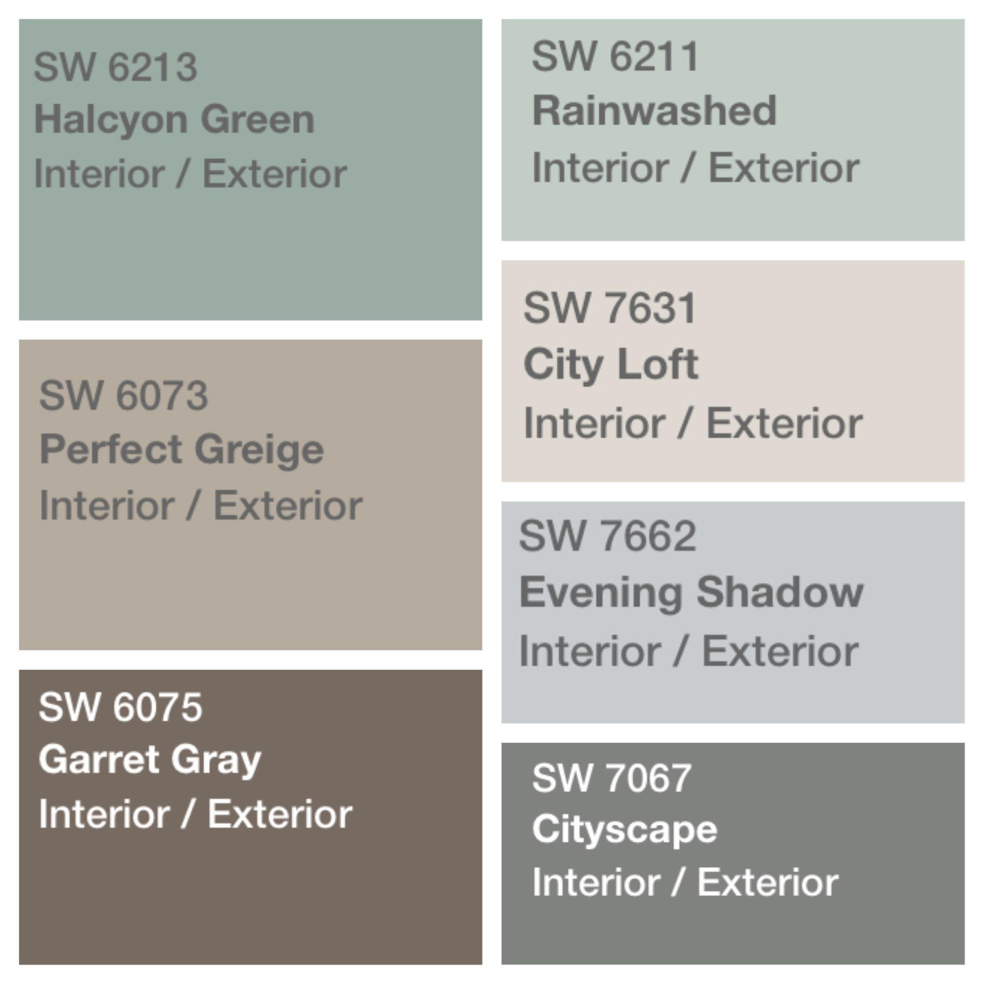 Palette Decided For House Paint Sherwin Williams Perfect Greige Color Schemes And Decor