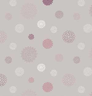 Papier peint gris blanc mauve Fleur de jasmin Sophie Cordier ...