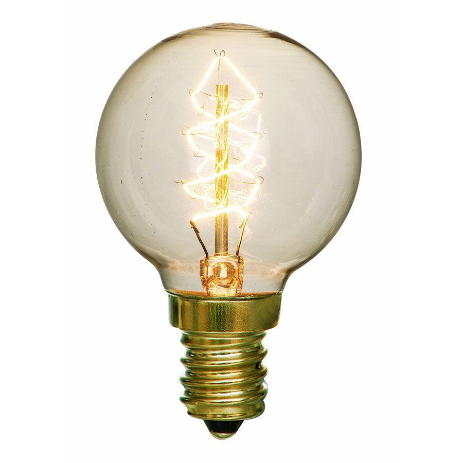 Litex Vintage 2 Pack 40 Watt Candelabra Base E 12 Base Warm White Dimmable Decorative Incandescent Light Bulb Incandescent Light Bulb Light Bulb Bulb