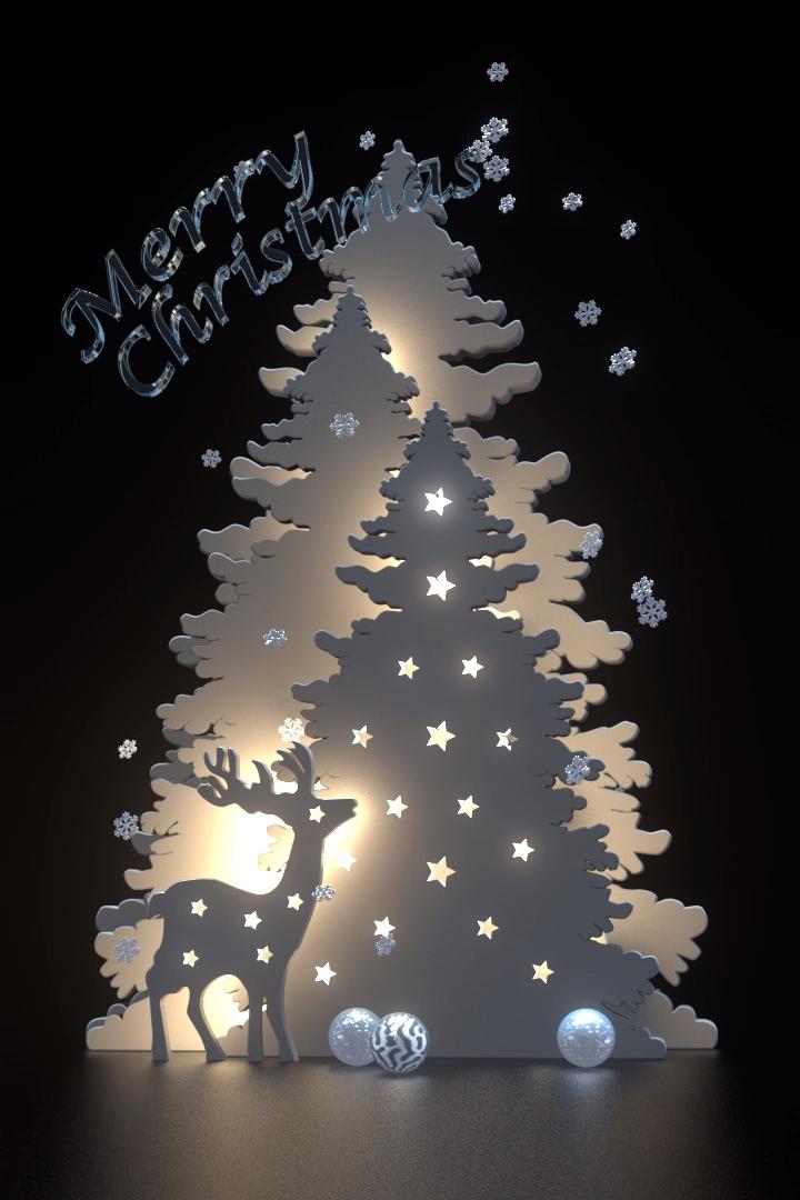 Merry Christmas 2020 3d Ornament HD 3D motion Christmas Card, #Card #Christmas #motion in 2020