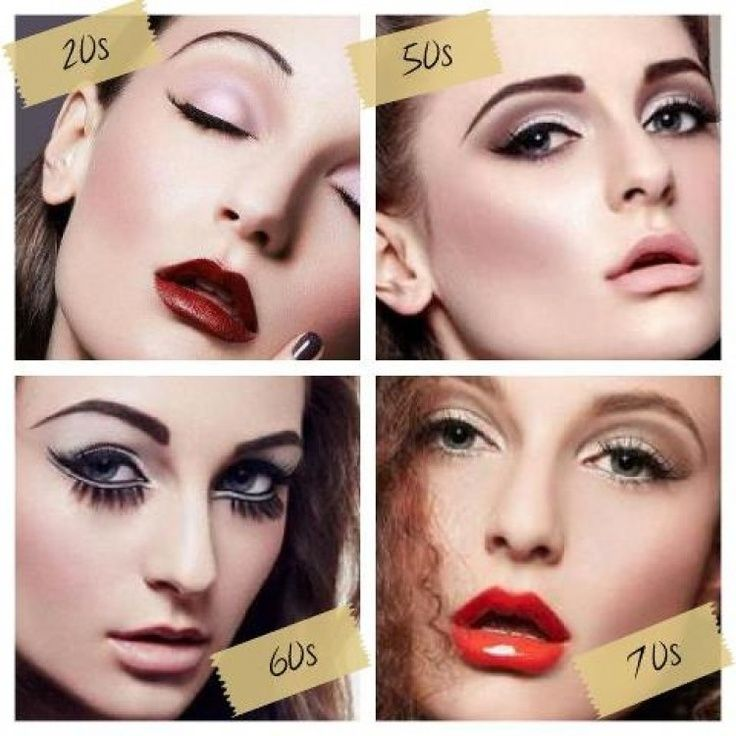 B Makeup B Through The Decades In The 20s And 70s They Totally Have B B Makeup Trends Makeup Makeup History