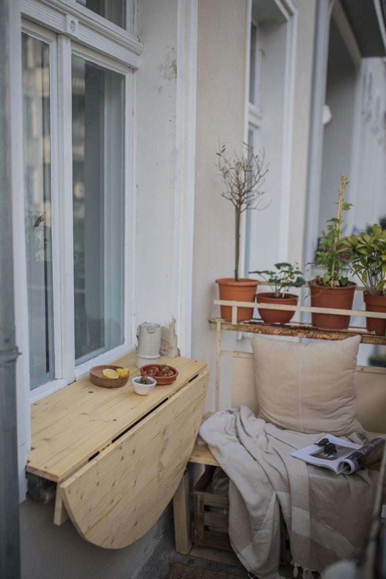 Photo of DIY Klapptisch für den schmalen Balkon • doitbutdoitnow