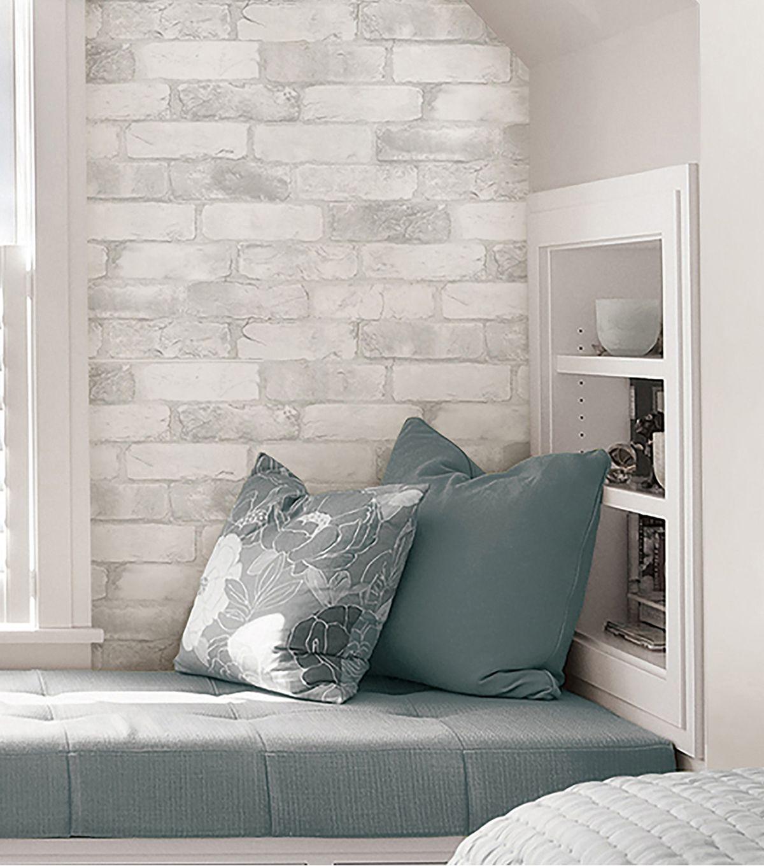 Wallpops Nuwallpaper 3d Peel Stick Wallpaper Brick Joann Brick Wall Bedroom White Brick Wallpaper Brick Wallpaper Bedroom