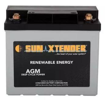 Sun Xtender Pvx 340t Agm Deep Cycle Battery Adventure Rv Solar Batteries Rv Solar Adventure Rv Sol Solar Battery Deep Cycle Battery Solar Power Batteries